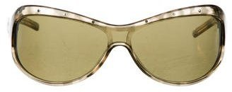 Bottega Veneta Bottega Veneta Tinted Shield Sunglasses