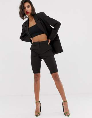 Asos Design DESIGN city suit shorts in chocolate brown