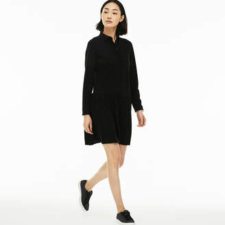 Lacoste Women's Petit Pique Polo Dress With Pleated Skirt