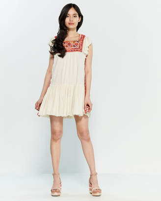 f2df300c923e Free People Day Glow Embroidered Mini Dress