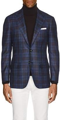 Kiton Men's KB Plaid Cashmere-Blend Two-Button Sportcoat