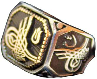 Express Falcon Jewelry Sterling silver men ring handmade, Ottoman empaire tugram, Shipping