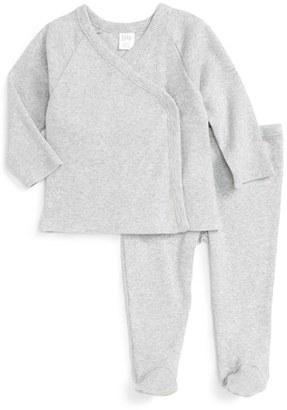 Infant Nordstrom Baby Rib Knit T-Shirt & Pants Set $35 thestylecure.com