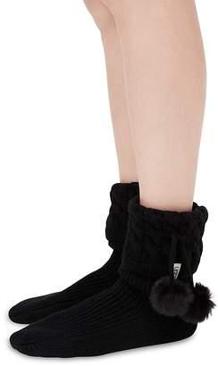 UGG Sienna Socks with Faux Fur Pom-Poms