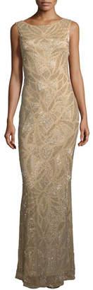 Parker Black Vicky Embellished Scoop -Back Gown
