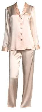 Fleurette Silk Pajama Top and Pants