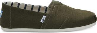 Toms Military Olive Heritage Canvas Men's Classics