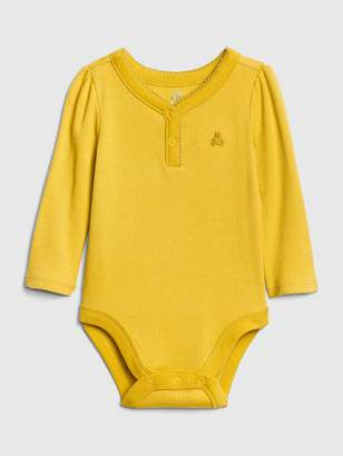 Gap Baby Brannan Bear Henley Bodysuit