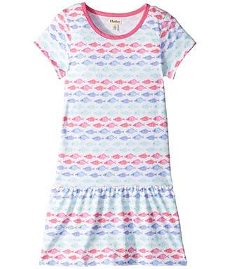 Hatley Watercolor Fishies Dropped Waist Dress (Toddler/Little Kids/Big Kids)