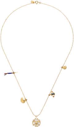 SCOSHA Kaleidoscope 10K Gold Diamond And Sapphire Necklace