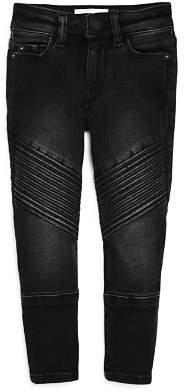 DL1961 Girls' Black Skinny Moto Jeans - Big Kid