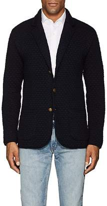 Eleventy Men's Diamond-Knit Virgin Wool Cardigan