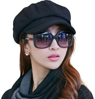 af8ca90da1d7a Siggi Womens Wool Newsboy Cap Winter Fall Berets Visor Cloche Cabbie Hat  for Lady Soft Lined
