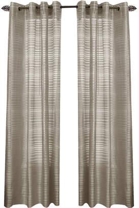 Asstd National Brand Maggie Grommet-Top Curtain Panel