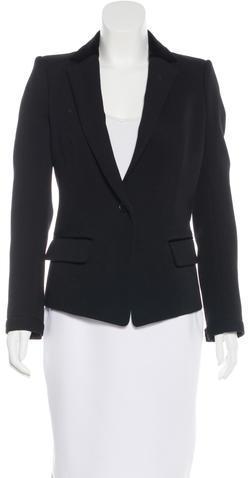 Balenciaga Balenciaga Velvet-Trimmed Fitted Blazer