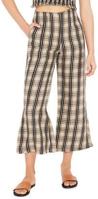 Faithfull The Brand Carmen Plaid Crop Flare Pants
