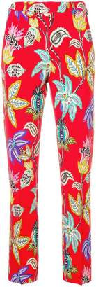 Etro floral print tailored trousers