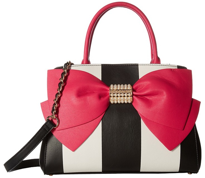 Betsey Johnson Betsey Johnson - Pearl Of A Girl Bow Satchel Satchel Handbags