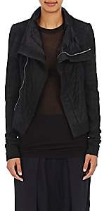 Rick Owens Women's Blistered-Leather Naska Biker Jacket - Black