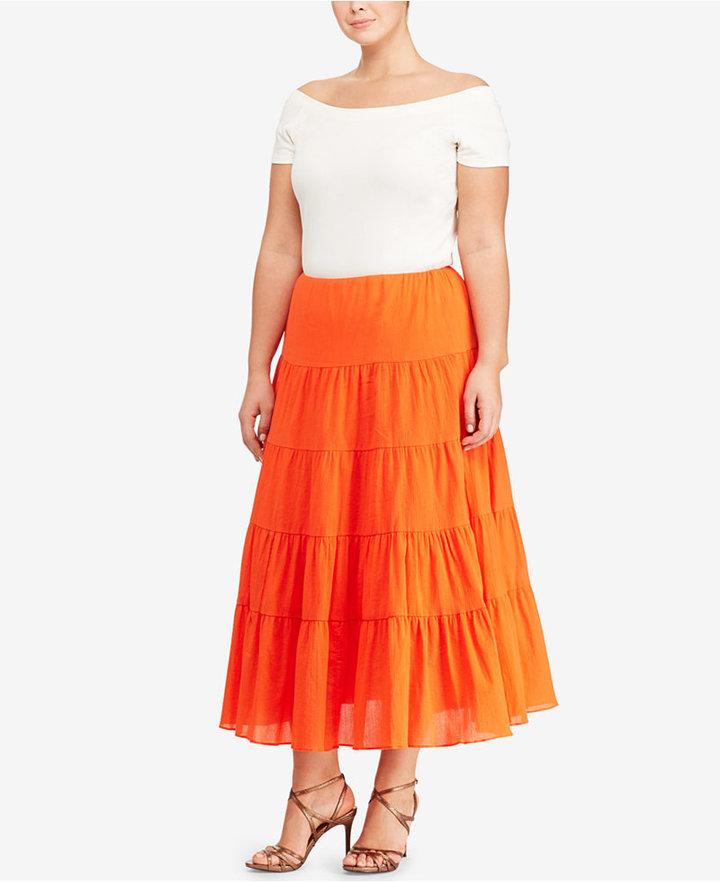 Lauren Ralph LaurenLauren Ralph Lauren Plus Size Cotton Maxiskirt