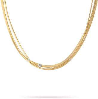 Marco Bicego Masai Triple Strand Diamond Necklace