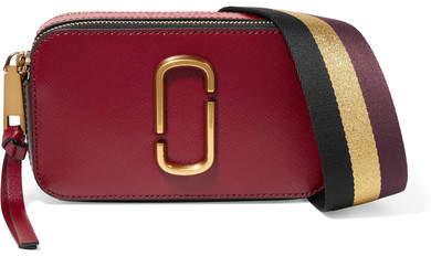 Marc Jacobs - Snapshot Textured-leather Shoulder Bag - Burgundy