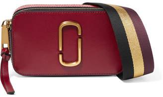 Marc Jacobs - Snapshot Textured-leather Shoulder Bag - Burgundy $295 thestylecure.com