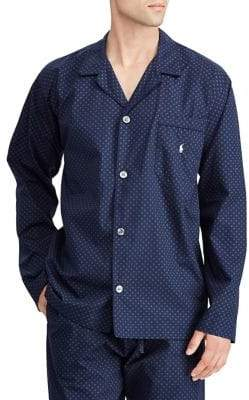Ralph Lauren Printed Cotton Pajama Top