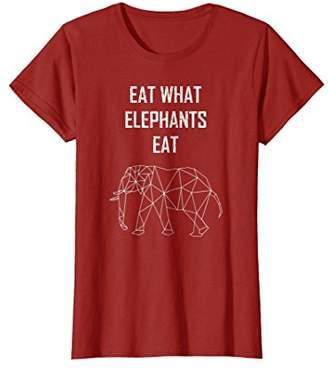 Eat What Elephants Eat Shirt - Vegan Shirt