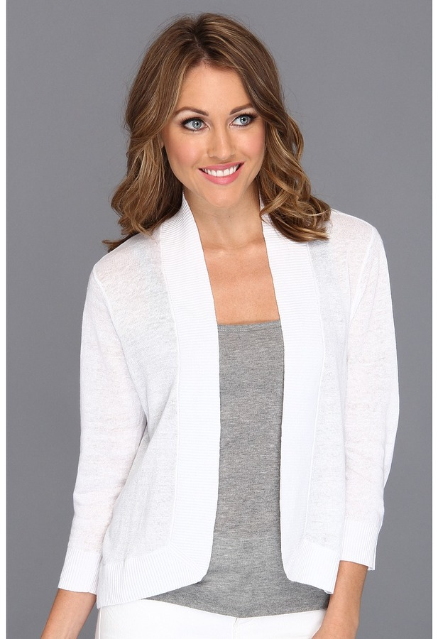 Tommy Bahama Lea Open Cardigan (White) - Apparel