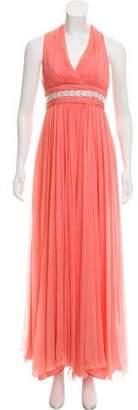 Marchesa Chiffon Evening Dress