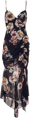 Nicholas Floral Ruched Dress