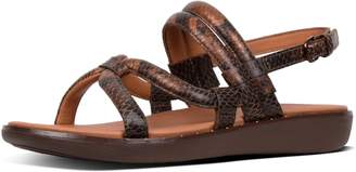 FitFlop Barely Snake-Print Leather Back-Strap Sandals