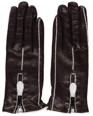 Sermoneta Gloves Cashmere-Lined Leather Gloves