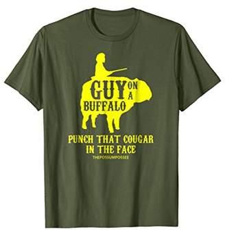 Buffalo David Bitton Guy on a Shirt Punch that Cougar in the Face shirt