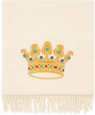 Loretta Caponi Hand-Embroidered Wool Blanket