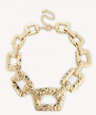 Sole Society Womens Textured Overd Chain Necklace Gold One Size From Sole Society B9axoJR