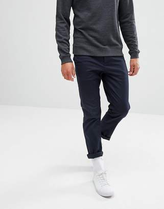 Asos Slim Cropped Chinos In Navy