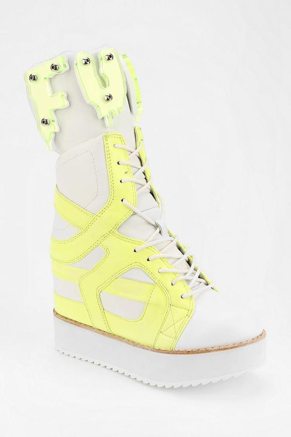 Jeffrey Campbell Rodman F Yeah Hidden Wedge High-Top Sneaker