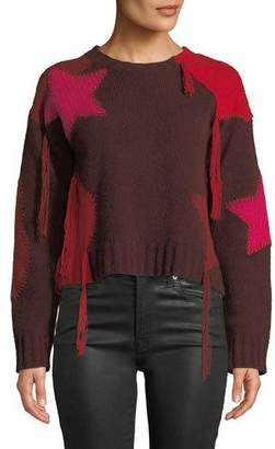 360 Sweater 360Sweater Julita Patchwork Fringe Cashmere Sweater