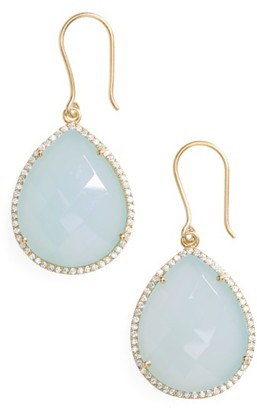 Women's Susan Hanover Small Semiprecious Stone Teardrop Earrings $148 thestylecure.com