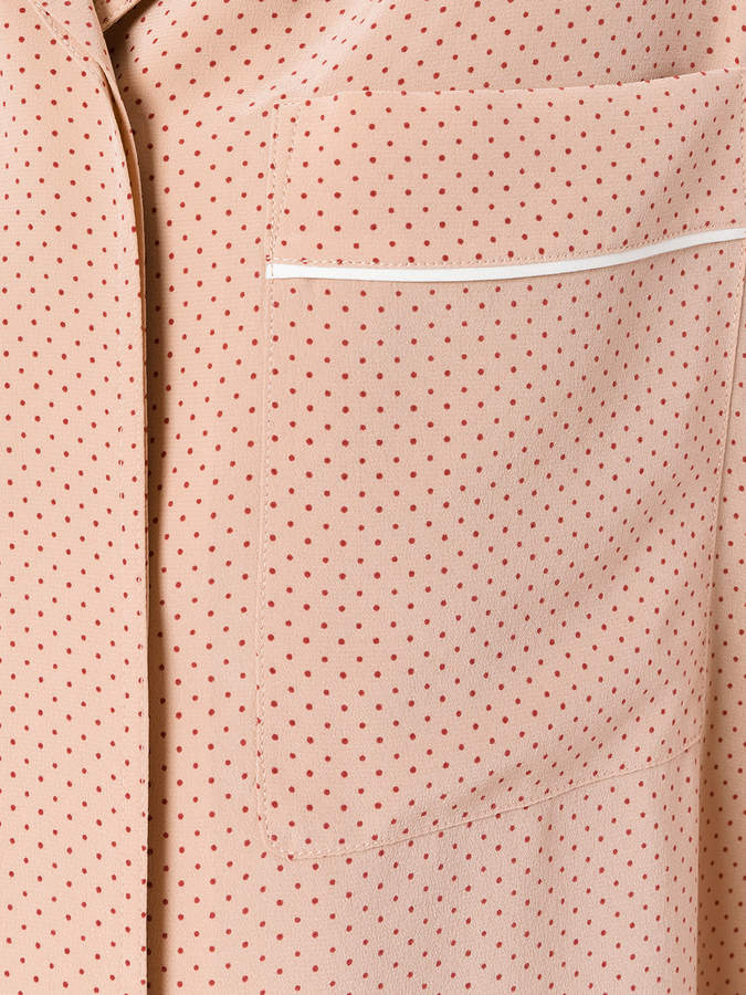 Theory polka dots shirt