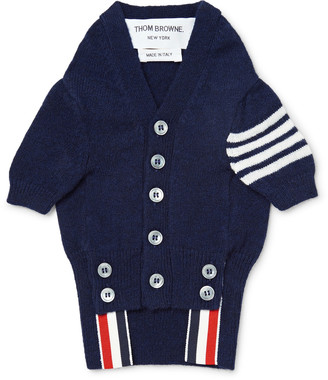 Thom Browne Hector Striped Cashmere Dog Cardigan $590 thestylecure.com