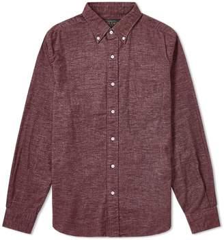 Beams Button Down Flannel Shirt