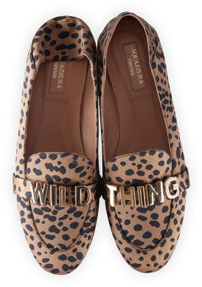 Aquazzura Wild Thing Printed Moccasin Loafers