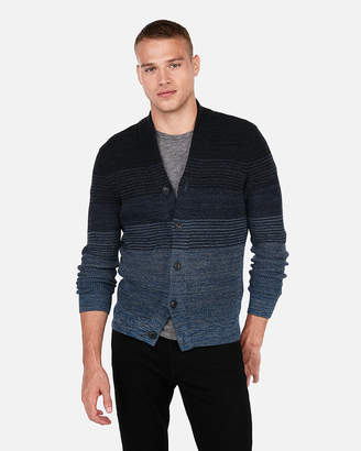 Express Ombre Marled High Neck Cardigan