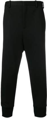 Neil Barrett gathered ankle cropped trousers