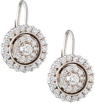 Penny Preville 18k White Gold Diamond Double-Circle Drop Earrings