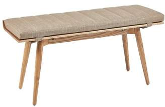 Ash Rollo Wood Bench & Cushion