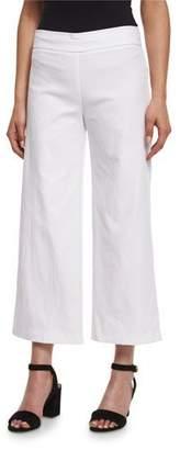 Avenue Montaigne Alex Wide-Leg Crop Pants, White $235 thestylecure.com